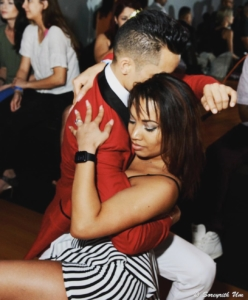 Katrina and I bachata